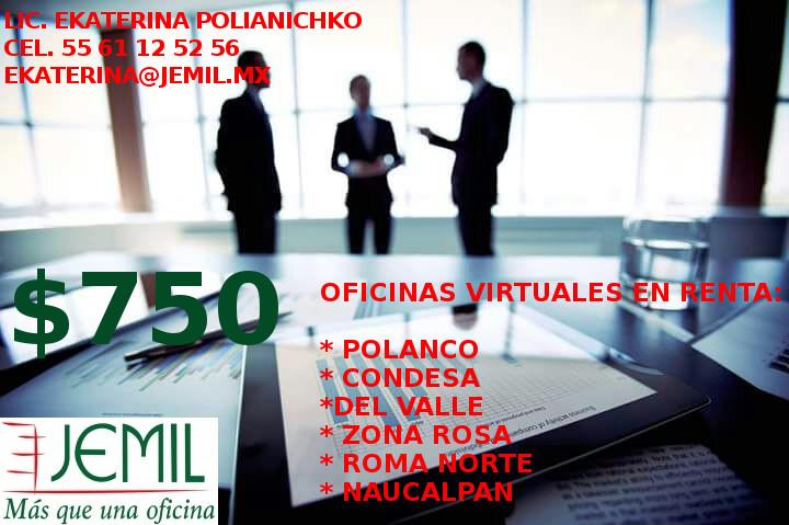 Rento oficinas virtuales con domicilios en la ciudad de for Oficinas virtuales mexico df